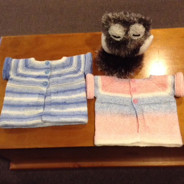 Knitting By Post Owl : This weeks finished knitting two more owls to go