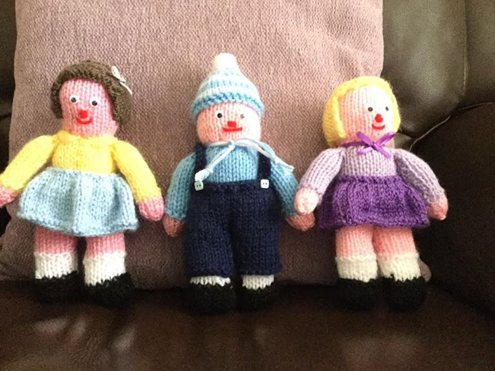 Knitting Patterns Little Dolls : Three little dolls   Knitting by Post