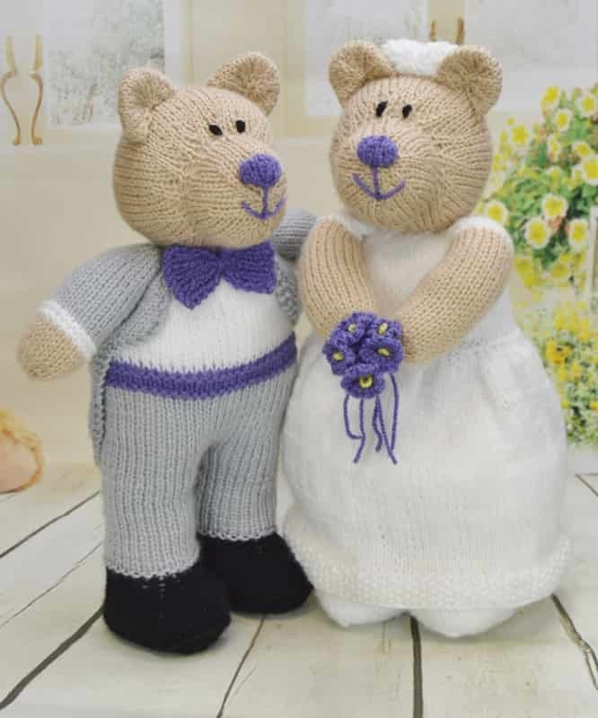 Angel Bear Knitting Pattern : Bearly Wed   Knitting by Post