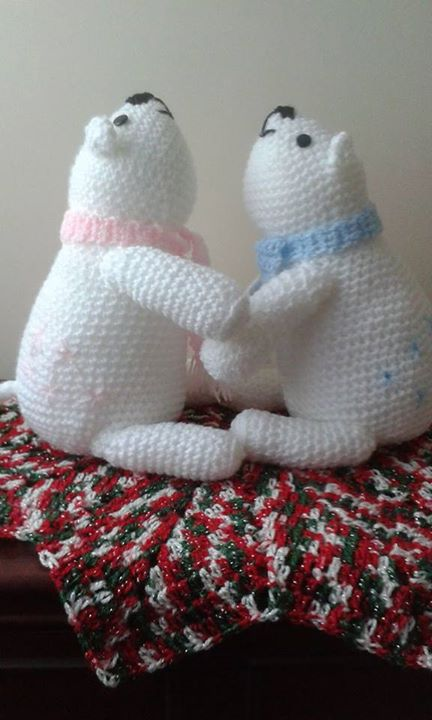 Crocheted These A Few Months Agowould Love A Knitted Polar Bear