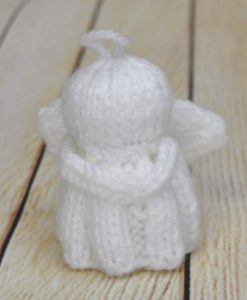 knitted angel for christmas tree