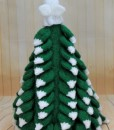 knitted christmas tree back