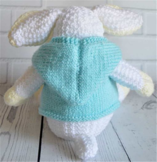 knitted sheep back