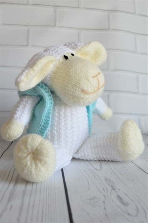 knitted sheep pattern