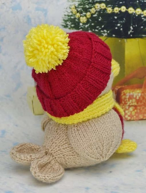 knitted robin pattern