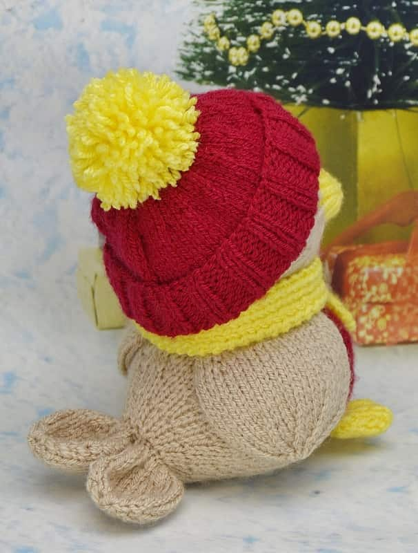 Knitted Robin Pattern For Christmas : Robin Knitting Pattern   Knitting by Post