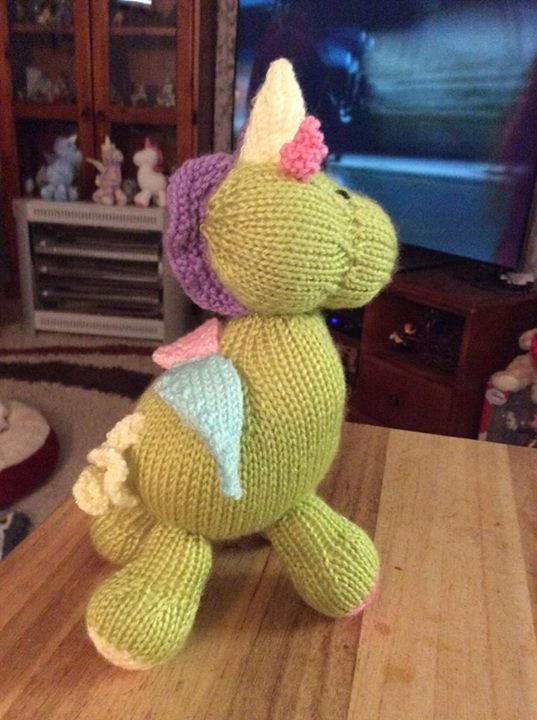 Rainbow Unicorn Knitting Pattern : Rainbow unicorn knitting by post
