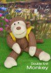 KBP-212 - Monkey Knitting Pattern Knitted Soft Toy