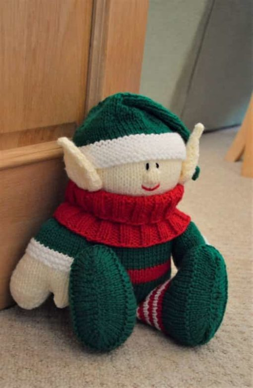 knitted elf doorstop knitting pattern