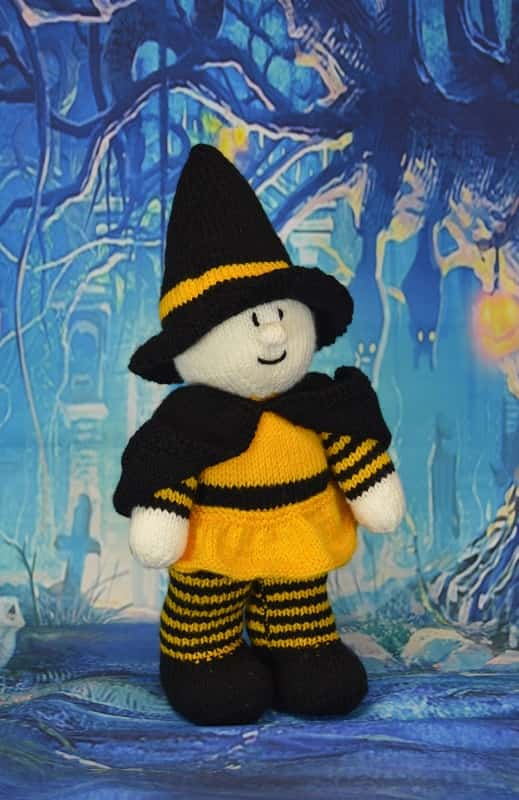 Witch Festive Friend Knitting Pattern - Knitting by Post