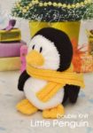 KBP-210 - Little Penguin Knitting Pattern Knitted Soft Toy
