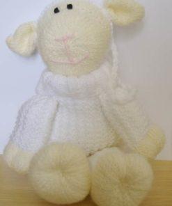 knitted sheep gift bag
