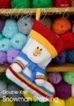 KBP-227 - Snowman Socking Knitting Pattern Knitted Soft Toy