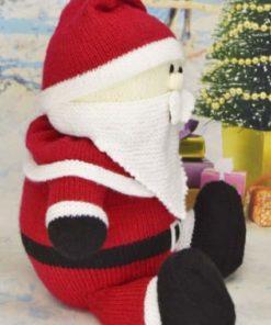 Santa soft toy knitting pattern