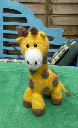 Geri, the giraffe.   Loved knitting this little lady