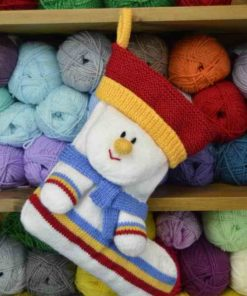 Snowman Stocking Knitting Pattern
