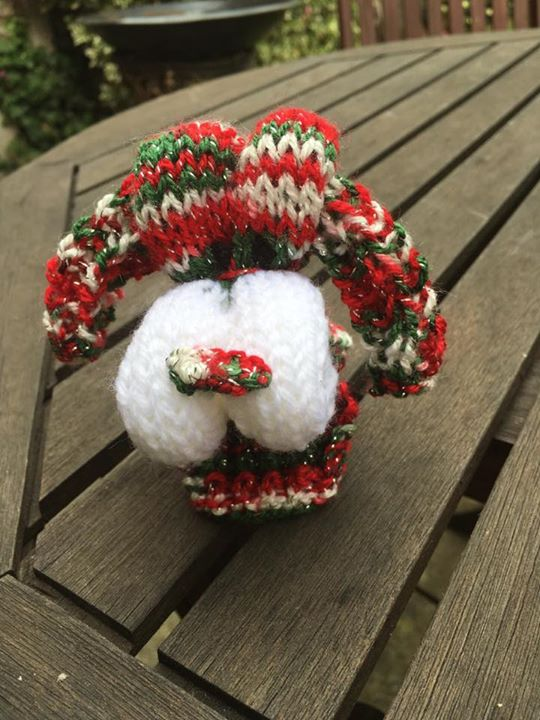 Xmas theme folded dog, Will be selling for caudwell children destination dreams trip