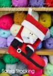 KBP-233 - Santa Socking Knitting Pattern Knitted Soft Toy