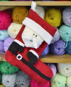 Santa Christmas Stocking Knitting Pattern