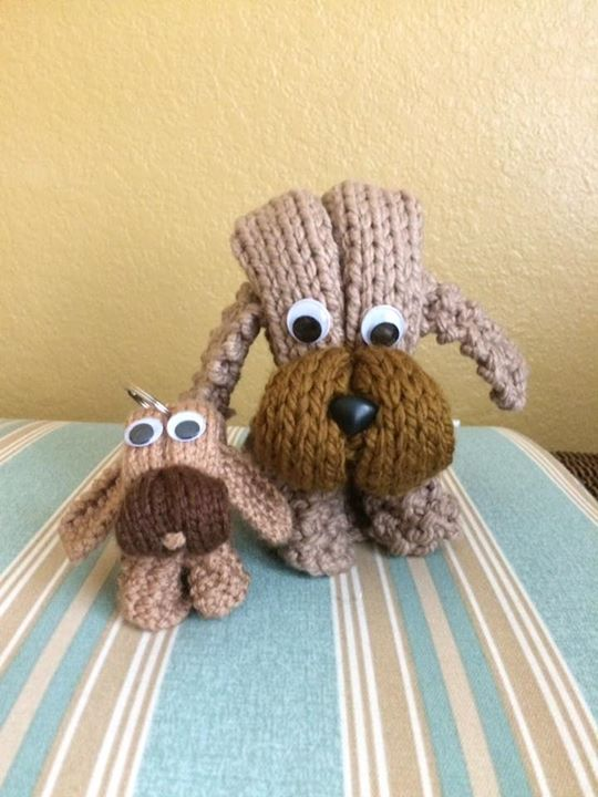 Knitting Chunky Yarn On Small Needles : Little doggy knitted in chunky yarn size mm us