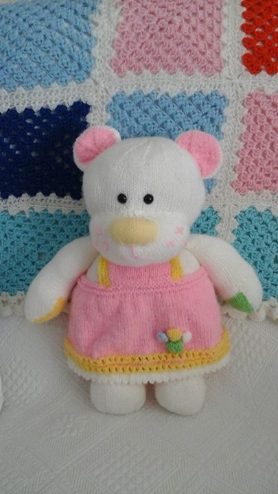 My 1st Bella Bear Just Of My Needles Knitting By Post