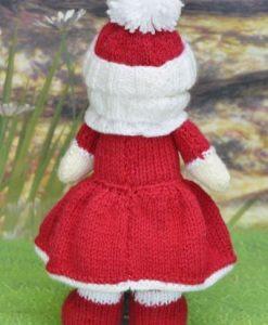 Christmas doll knitting pattern
