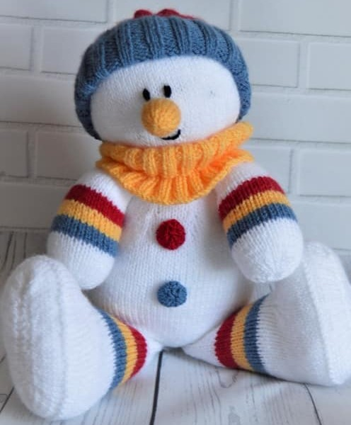 Snowman Softie - Knitting by Post
