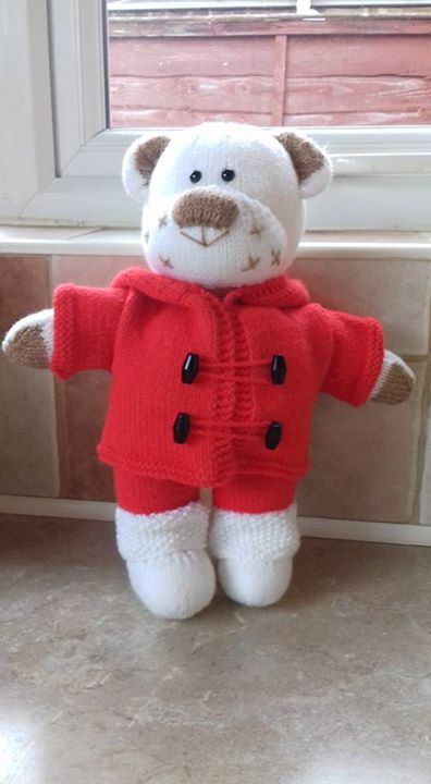 Christmas Boo Bear all finished and ready for the auction to help a pet in need