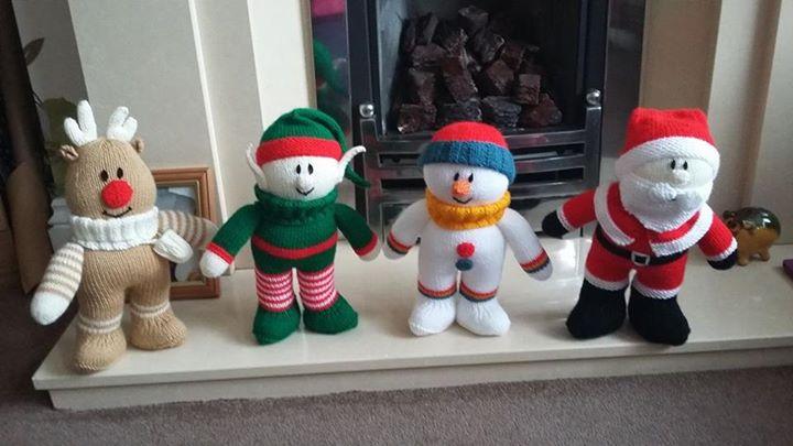 Elf joins his festive friends