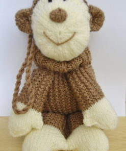 knitted monkey pattern