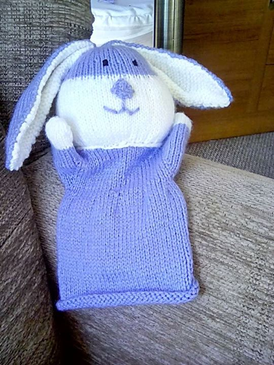 Little bunny hand puppet on its way to Lancashire for a lovely little girl xx