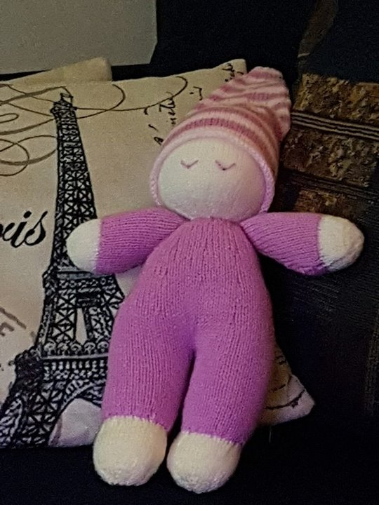 Loved knitting this easy knit doll