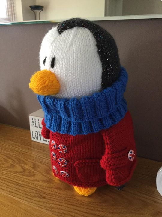 Loved making my travelling penguin. Hope you all like him.