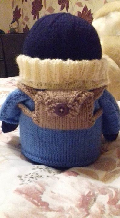 Made him a little backpack x
