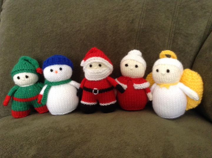 My mini Christmas characters (with a few tweaks)