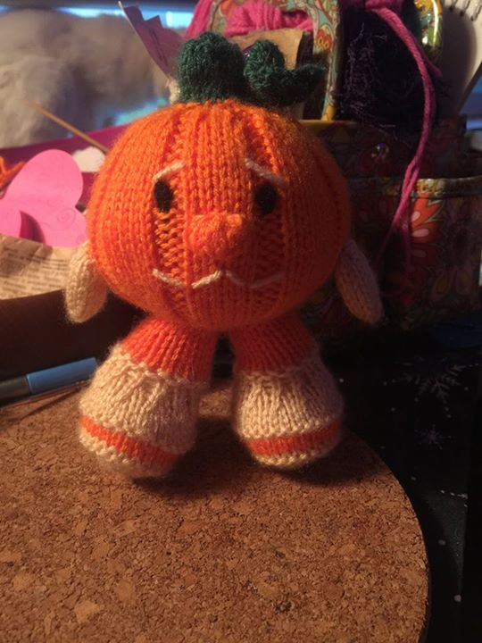 Yippee I am finally so glad to post in here!!! My finished little pumpkin.