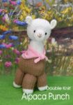 KBP-232 - Alpaca Knitting Pattern Knitted Soft Toy