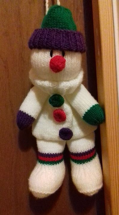 Another snowman baggle finished