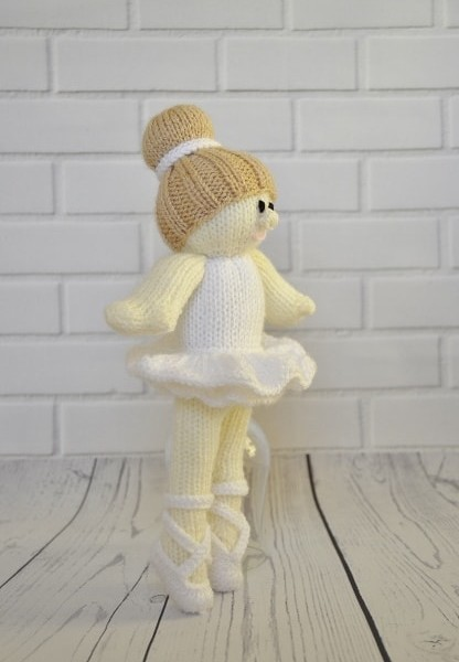 Ballerina Doll Knitting By Post