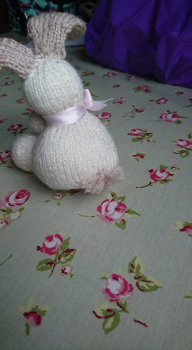 Some of the things I have finished. I added a tail to the tiny bunny as my granddaughter wanted me to. I'm now on my 9th week of not being able to knit but I'm hoping to start again very soon!