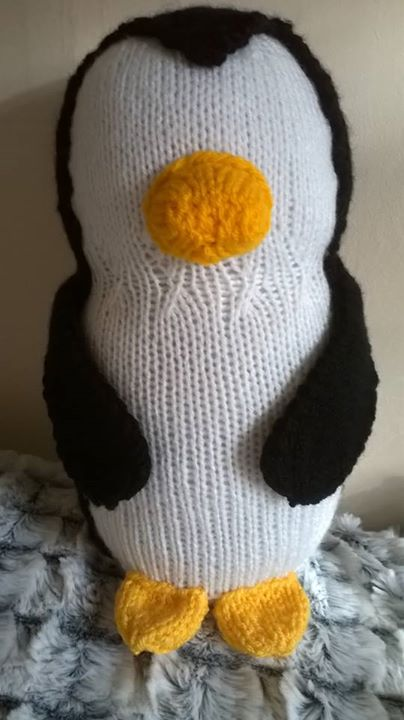 Travelling penguin finished he has been waiting a while to be sewn up