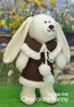 KBP-226 - Chocolate Rabbit Knitting Pattern Knitted Soft Toy