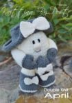 KBP-236 - April Easter Egg Knitting Pattern Knitted Soft Toy