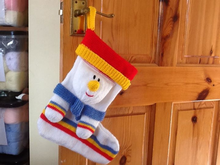 mr snowman stocking all finished.now to do the penguins