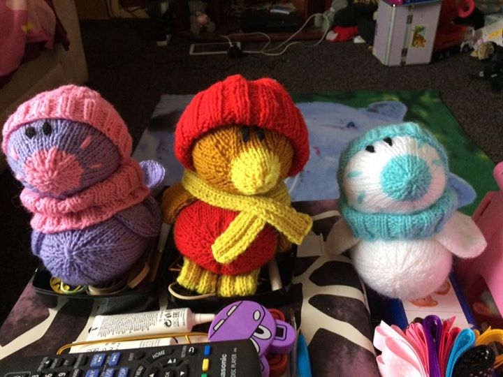 My happy knitted family x