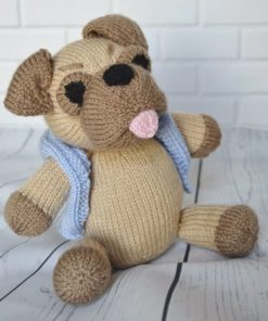 pug dog knitting pattern soft toy