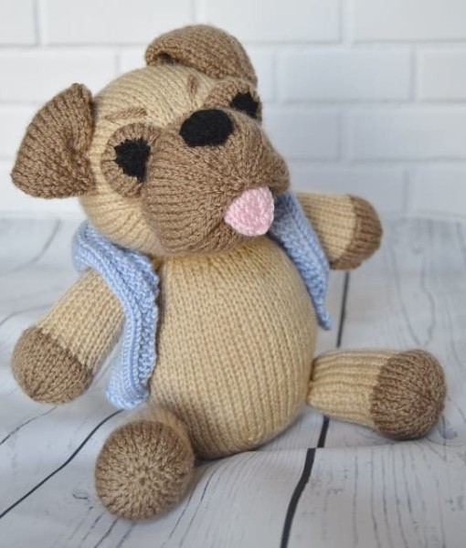 pug dog knitting pattern