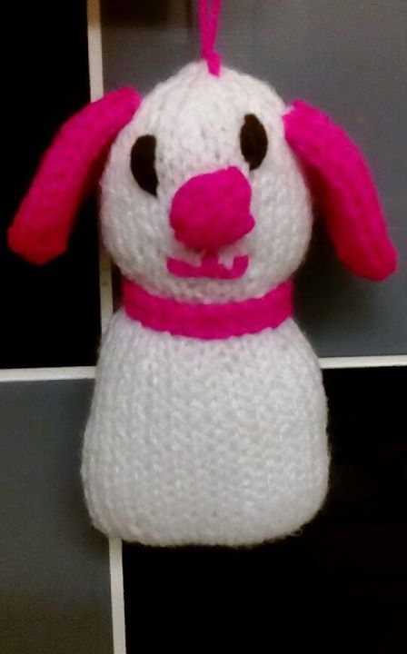 small knitted dog filled with lavender what you think