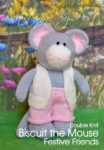 KBP-246 - Biscuit the Mouse Knitting Pattern Knitted Soft Toy