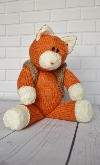 Knitted Fox Pattern Knitting By Post